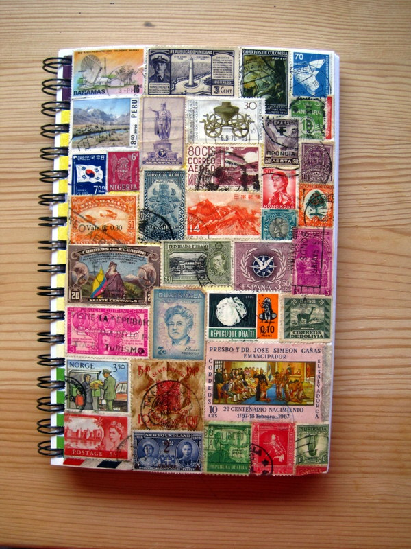 Stamp Collage Journal