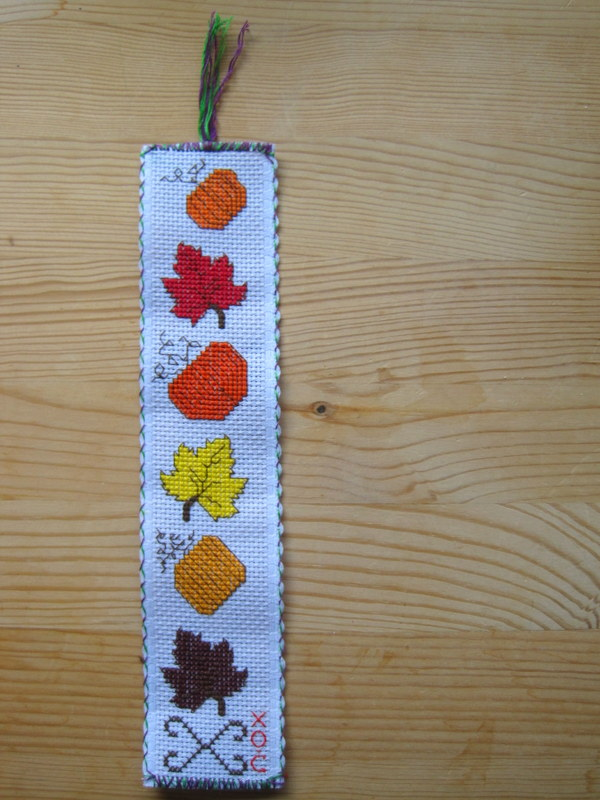 Autumn Embroidered Bookmark