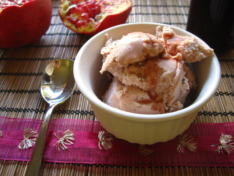 Pomegranate Chocolate Chip Ice Cream