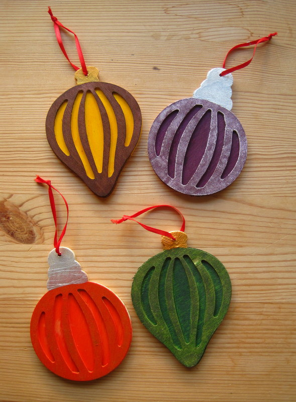 Jewel Tone Christmas Ornaments