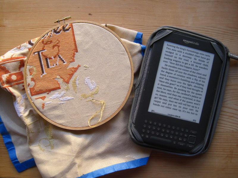Cross-Stitching and Reading