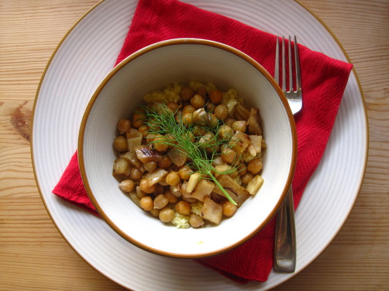 Caramelized Fennel with Citrus, Chickpeas, and Couscous