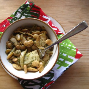 Lemony Fennel with Lima Beans and Dill