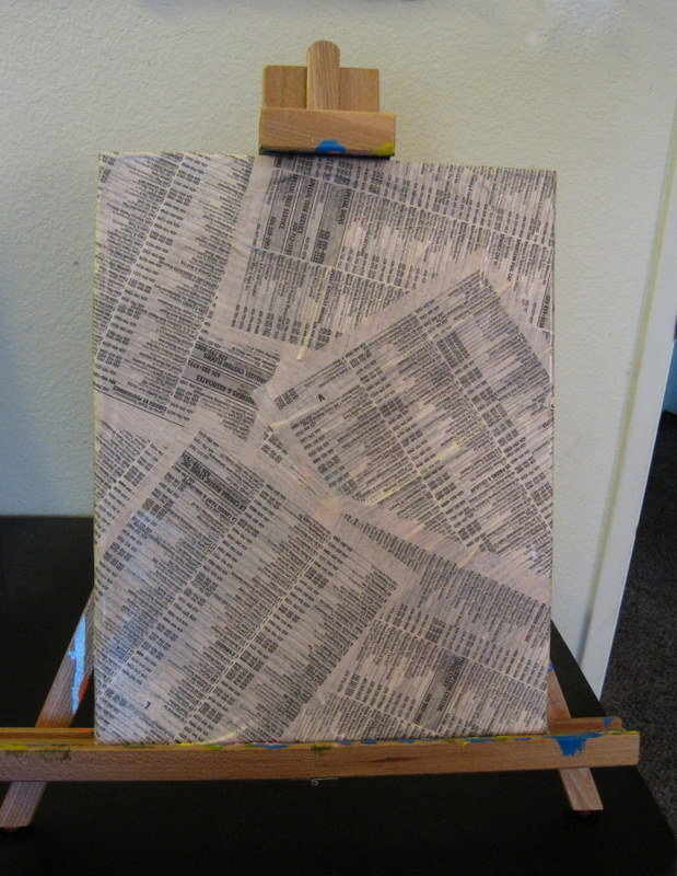 Newsprint tape painting for Tape painting on canvas
