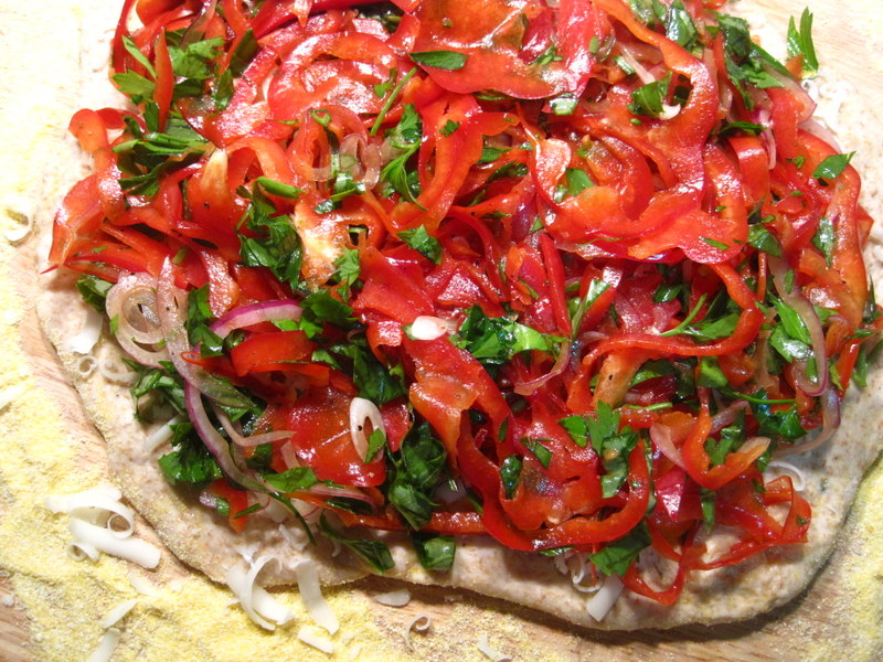 Red Pepper Pizza
