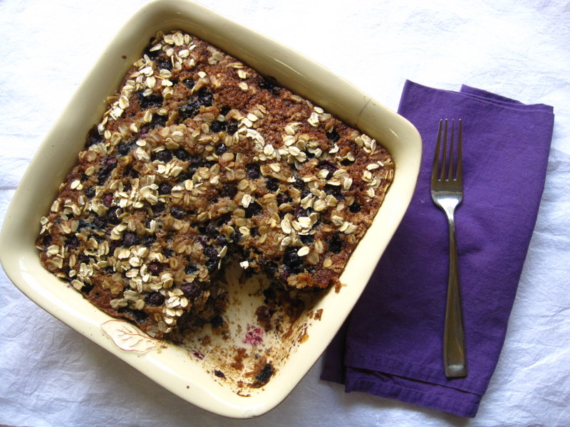 Blueberry Cinnamon Oat Cake