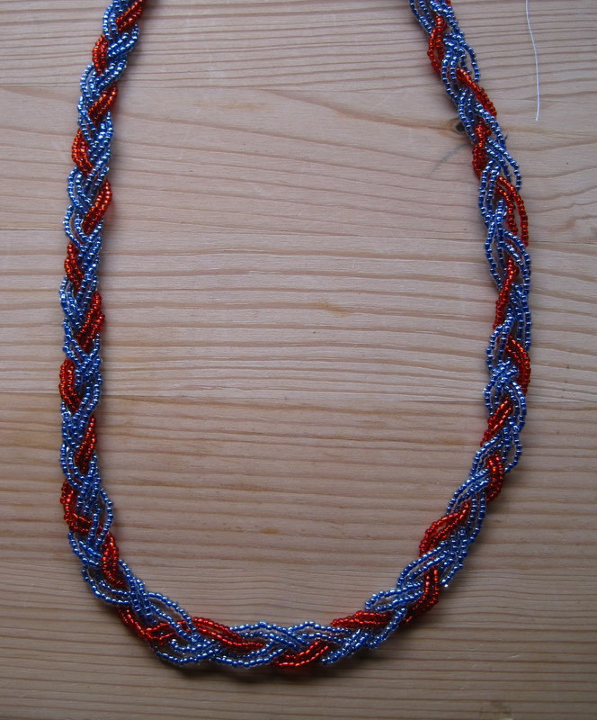 braided bead necklace